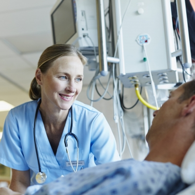 A nurse navigator helps to coordinate the care of a patient that has received a second opinion on their cancer diagnosis